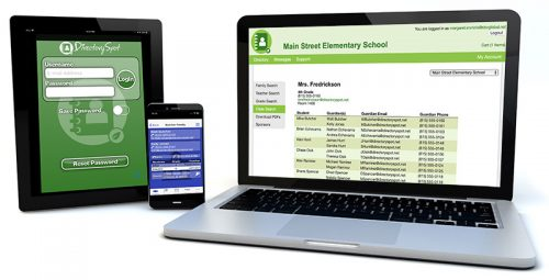 DirectorySpot app on multiple screen sizes