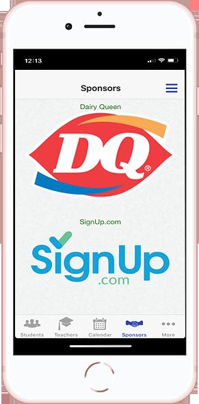 DirectorySpot sponsors example on smartphone